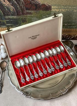 Винтажные серебряные кофейные ложки 830 проба