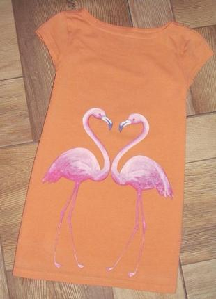 "Платье туника ""фламинго"" «lands'end» р.5-6/110-122см."