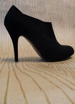 Сапоги pull&bear ботильоны полусапожки ботинки туфли каблуке черные осенние весенние деми