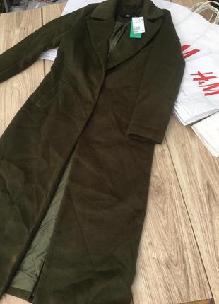 Длинное пальто h&m стильное актуальное zara asos