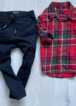 Комплект 2-3года рубаха и штаны карго