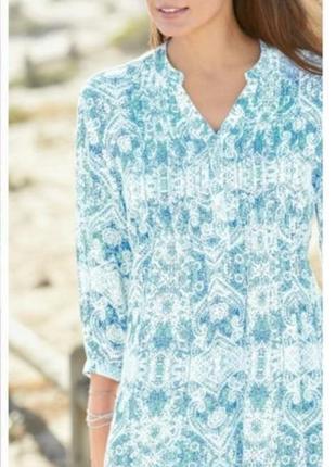 Стильная блуза, туника красивой расцветки большого размера 18uk