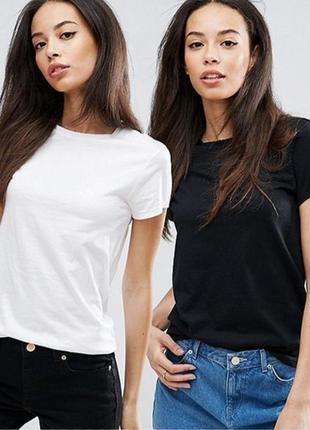 Комплект однотонных базовых футболок 100% хлопок размеры