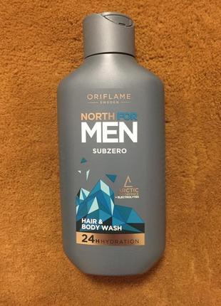Шампунь мужской для волос и тела north for men subzero