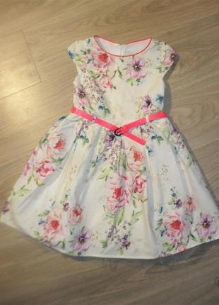 Платье некст на 7лет рост 122
