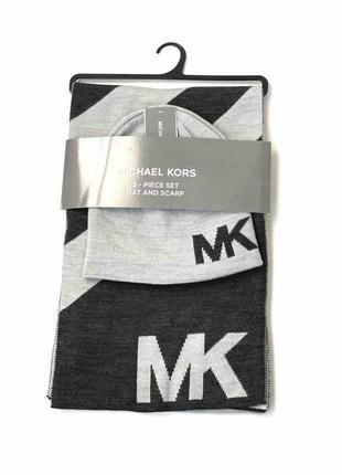 Комплект шапка , шарф мужской michael kors. майкл корс. оригинал