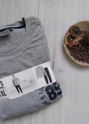 Мужская пижама, одежда для дома и сна, домашний костюм р. xl