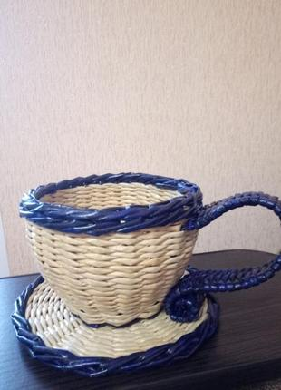 Чашка плетеная