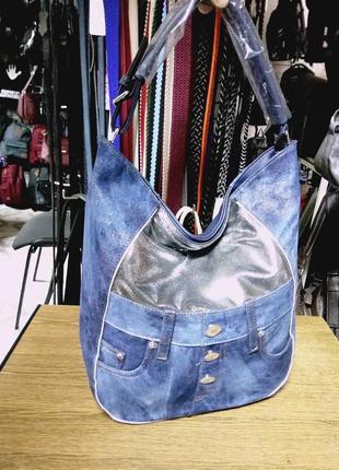 Стильная джинсовая сумочка.