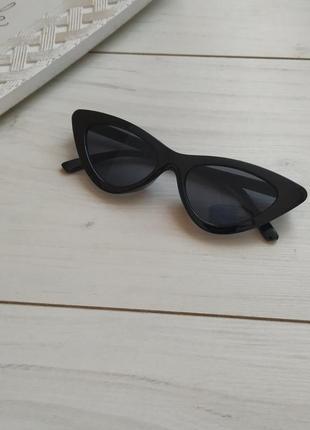 Очки солнцезащитные кошечки, узкие очки лисички