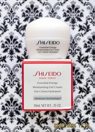 Увлажняющий крем гель shiseido essential energy moisturizing gel cream 10 мл