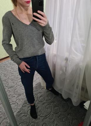 Мягенький шерстяной, кашемировый свитер, джемпер оверсайз от ralph lauren
