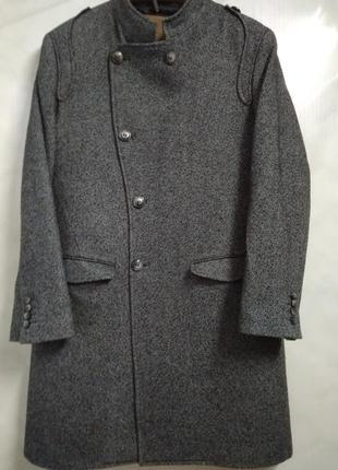 Актуальное элегантное шерстяное серое мужское пальто zara man portugal