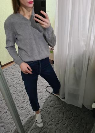 Шикарный шерстяной 100% свитер, джемпер оверсайз