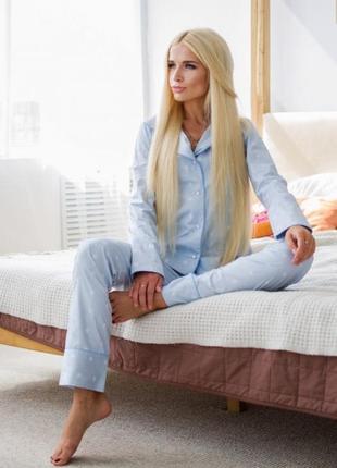 Пижама домашняя в голубую полоску со звездами