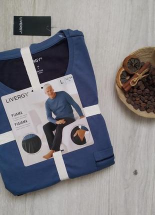 Мужская пижама, одежда для дома и сна, домашний костюм р. l