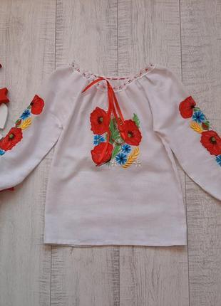 3-5 лет вышиванка для девочки
