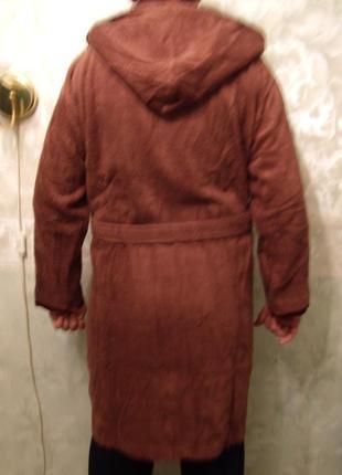 Халат махровый с капюшоном, хлопок, 44-50р