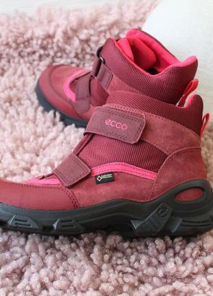 Зимние ботиночки для девочки ecco