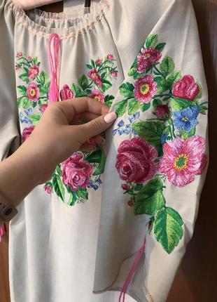 Жіноча вишита сукня!індивідуальне пошиття!