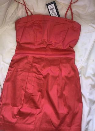 Платье на бретелях top secret кораллового цвета