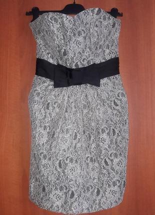 Ажурное платье бюстье-футляр h&m