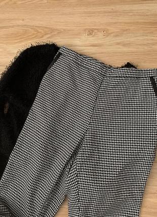 Штаны укорочённые гусиная лапка