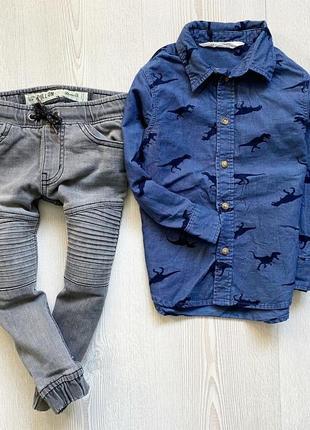 Комплект джинсы и рубашка на 2-3года