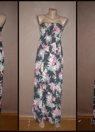 №365 макси платье цветочный принт