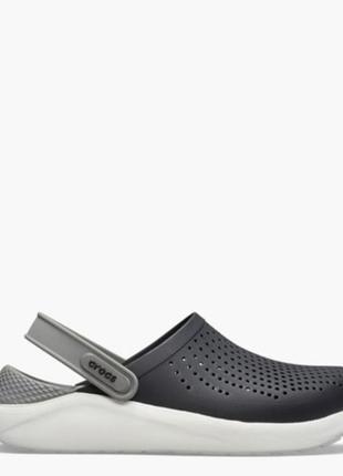 Crocs literide мужские сабо crocs лайтрайд мужские кроксы чёрного белого цвета