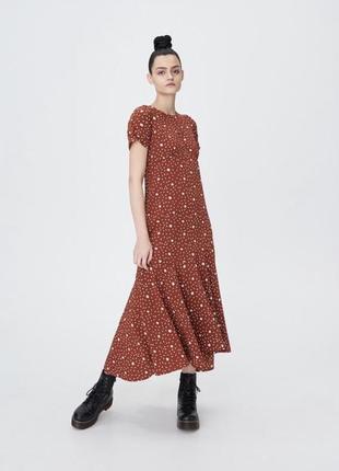Платье новое стильное миди макси цветочный принт нежное