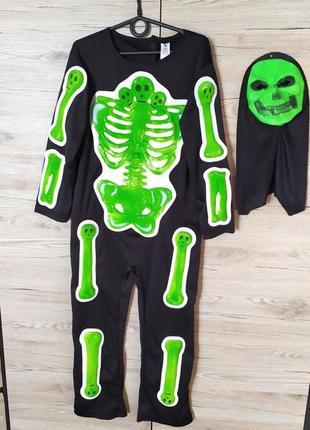 Детский костюм скелет, смерть на 7-8 лет на хеллоуин