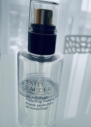 Estee lauder set + refresh perfecting makeup mist спрей для фиксации макияжа