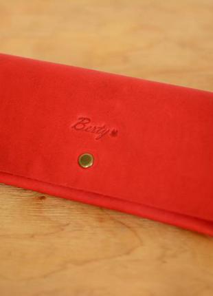 40e7f38ec11d Кожа. ручная работа. кожаный красный женский кошелек, портмоне, клатч