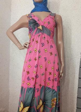 💙1+1=3 платье длинное платье в цветок сарафан длинный сарфан