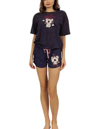 Пижама женская футболка,шорты vienetta турция s,m,l,xl