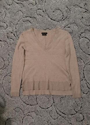 Мягенький шерстяной, шёлковый свитер,джемпер от massimo dutti