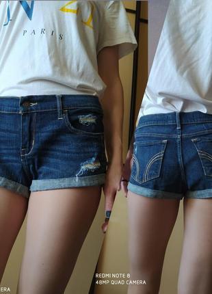 Суперски короткие джинсовые шорты  😎 от hollister w30.