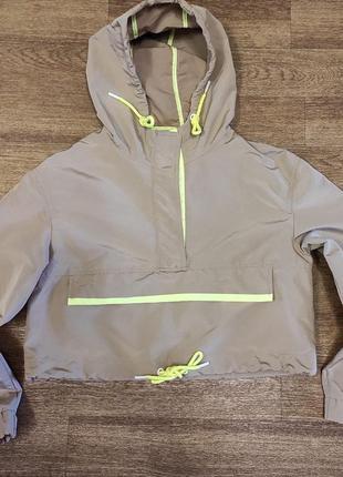 Укороченная оверсайз куртка/анорак bershka