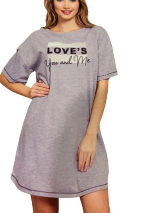 Ночная рубашка-туника vienetta турция, м,l,xl,2xl