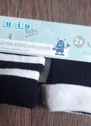 Комплект 2 пары махровые носки для новорожденных lupilu германия цена за набор