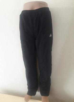 Штаны плащевка на байке adidas зима в идеале