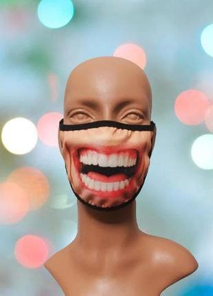 """Креативна маска для обличчя з 3d принтом """"саньок"""""""