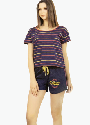 Пижама женская футболка,шорты vienetta турция s,m,l,xl,хлопок