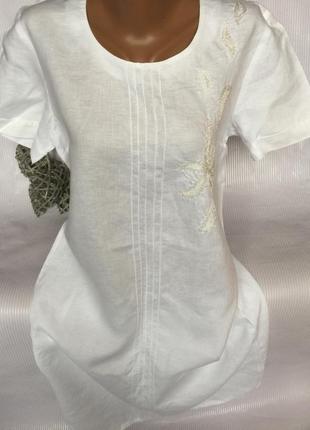 Роскошное платье лён 100% , италия  с бисером