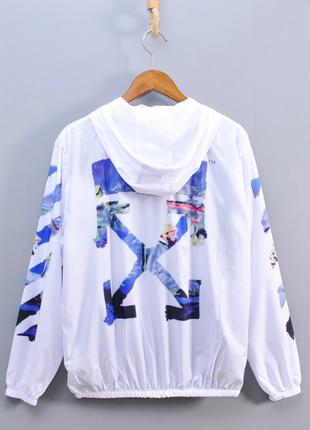 Женская ветровка, куртка off white, офф вайт. унисекс