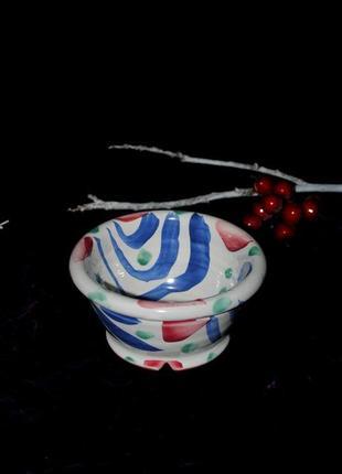 Горшок для цветов керамика яркий ручная работа италия маленький глечик