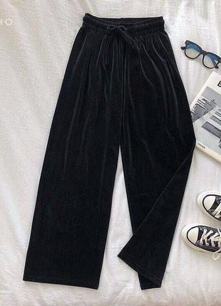Вельветовые широкие брюки