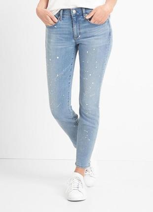 Очень классные джинсы gap с каплями краски 26