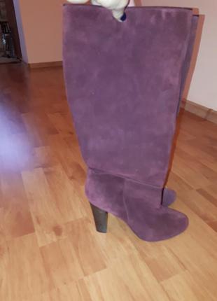 Сапоги полуботинки ботинки натуральная замша